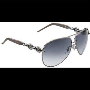 Gucci aviator rhinestone sunglasses 4230 grey